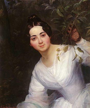 Portrait of M S Voeykova 1836   Karl Brulloff   oil painting