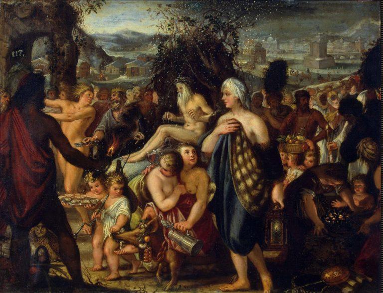 Allegory of Winter | Heiss Johann | oil painting