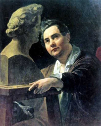 Portrait of Sculptor I P Vitaly 1836 1837 | Karl Brulloff | oil painting