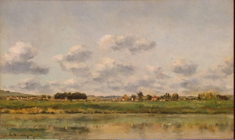 Banks of the Oise | Daubigny Charles-Francois | oil painting