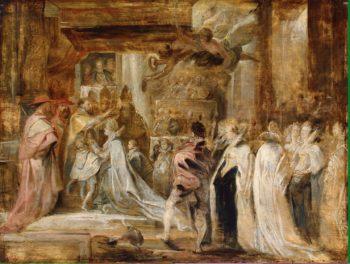 Coronation of Maria de Medici   Pieter Paul Rubens   oil painting