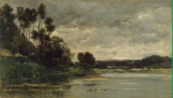 River Bank | Daubigny Charles-Francois | oil painting