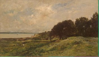 Seashore at Villerville | Daubigny Charles-Francois | oil painting
