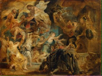 Death of Henry IV and the Proclamation of the Regency | Pieter Paul Rubens | oil painting