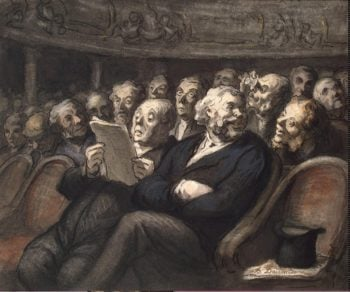 Intermission at the Comedie-Francaise - G | Daumier Honore | oil painting