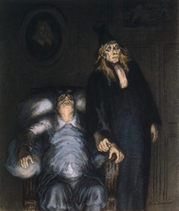 Supposed Invalid - G | Daumier Honore | oil painting