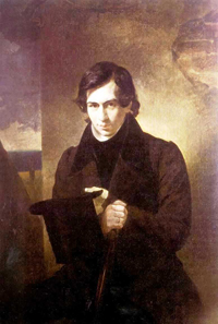 Portrait of the Poet and Playwrigh Nestor Kukolnic 1836 | Karl Brulloff | oil painting