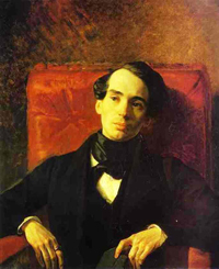Portrait of the Poet and Translator A N Strugovshchikov 1840 | Karl Brulloff | oil painting