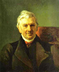 Portrait of the Professor of the Moscow Medical Academy K A Janish 1841 | Karl Brulloff | oil painting