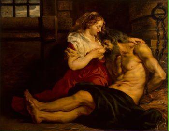 Roman Charity | Pieter Paul Rubens | oil painting