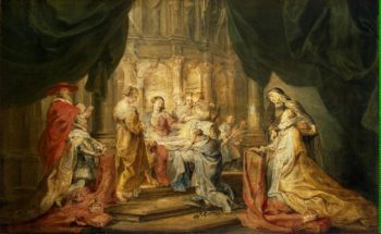 Vision of St Ildefonso | Pieter Paul Rubens | oil painting