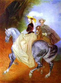 Portrait of Ye Mussart and E Mussart Riders 1849 | Karl Brulloff | oil painting