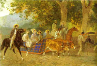 Promenade 1849 | Karl Brulloff | oil painting