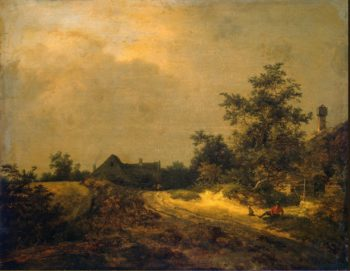 Peasant Cottages in Dunes | Ruisdael Jacob Isaaksz van | oil painting