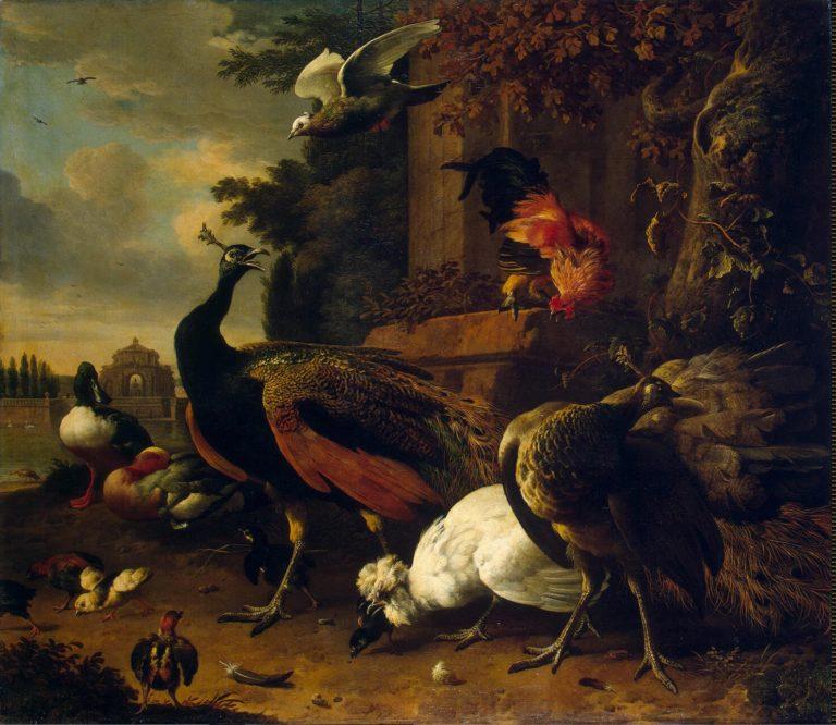 Birds in a Park | Hondecoeter Melchior de | oil painting
