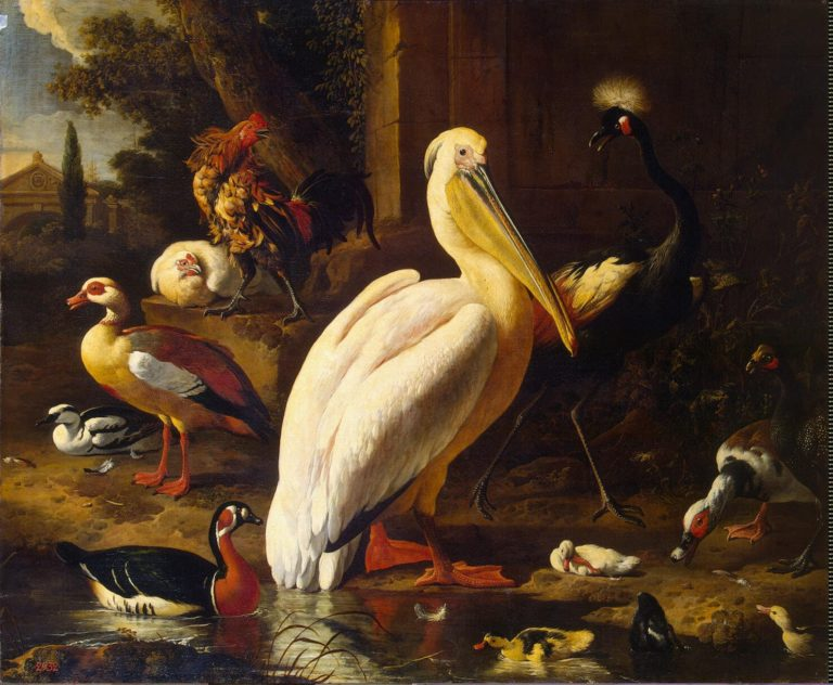 Birds in a Park | Hondecoeter Melchior de | oil painting