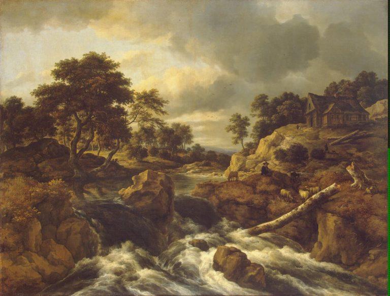 Waterfall in Norway | Ruisdael Jacob Isaaksz van | oil painting