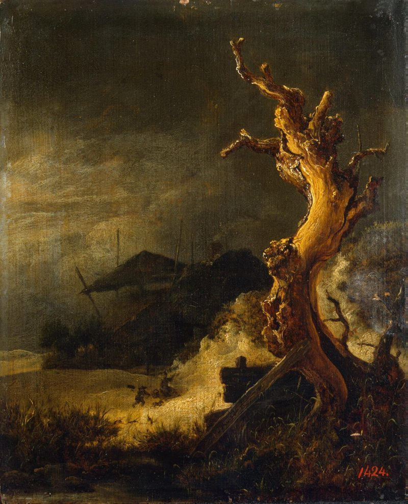 Winter Landscape with a Dead Tree | Ruisdael Jacob Isaaksz van | oil painting
