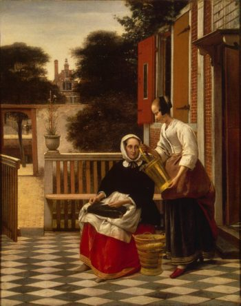 Woman and a Maid With a Pail | Hooch Pieter de | oil painting