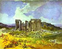 Temple of Apollo in Phigalia 1835   Karl Brulloff   oil painting