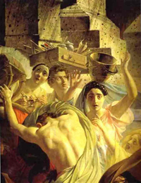 The Last Day of Pompeii detail 1 1830 1833 | Karl Brulloff | oil painting