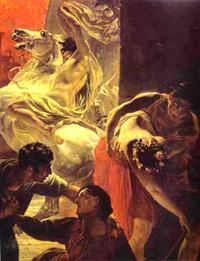 The Last Day of Pompeii detail 4 1830 1833 | Karl Brulloff | oil painting
