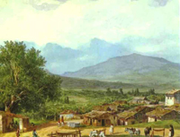 Village of San Rocco near the Town of Corfu 1835   Karl Brulloff   oil painting