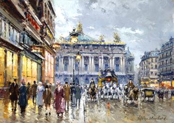 Avenue de l Opera | Antoine Blanchard | oil painting