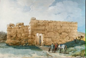 Ancient Palace (or Temple) on a Hill near Cefalu | Houel Jean-Pierre-Laurent | oil painting