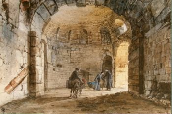Ancient Thermae in the Monastery of Carmelites at Catania | Houel Jean-Pierre-Laurent | oil painting