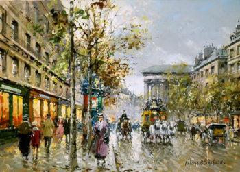 Boulevard de la Madeleine1 | Antoine Blanchard | oil painting