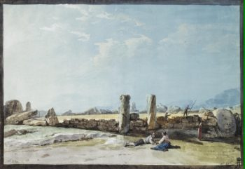 Enclosure of Huge Stones in Casal Caccia | Houel Jean-Pierre-Laurent | oil painting
