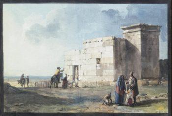 Greek House in Casal Zurnico on Malta | Houel Jean-Pierre-Laurent | oil painting