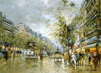 Boulevard des Capucines | Antoine Blanchard | oil painting