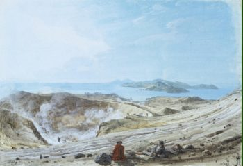Interior View of the Crater of Volcanello | Houel Jean-Pierre-Laurent | oil painting