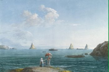 Islands of Cyclops in the Bay of La Trizza. General View | Houel Jean-Pierre-Laurent | oil painting