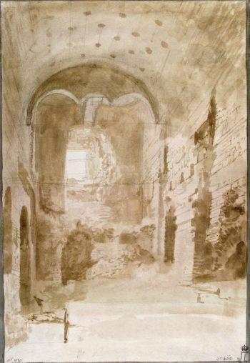 Ruins of Ancient Thermae in Cefalu | Houel Jean-Pierre-Laurent | oil painting