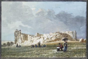 Ruins of Phoenician Temple in Casal Caccia | Houel Jean-Pierre-Laurent | oil painting