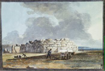Ruins of Phoenician Temple in Casal Caccia (western side) | Houel Jean-Pierre-Laurent | oil painting