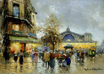 Gare de l Est2 | Antoine Blanchard | oil painting