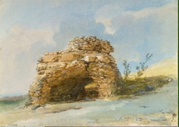 Sepulchre near the Gates of the Ancient City of Tindari | Houel Jean-Pierre-Laurent | oil painting