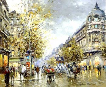 Grands Boulevards | Antoine Blanchard | oil painting