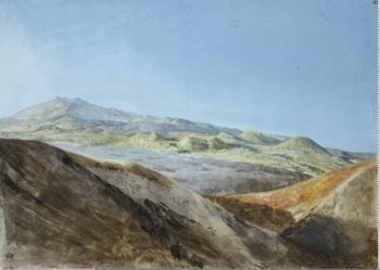 View of Etna near the Peak of Monte Rosso | Houel Jean-Pierre-Laurent | oil painting