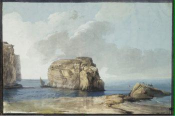 View of the Mushroom Rock | Houel Jean-Pierre-Laurent | oil painting