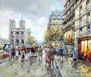 Notre Dame | Antoine Blanchard | oil painting