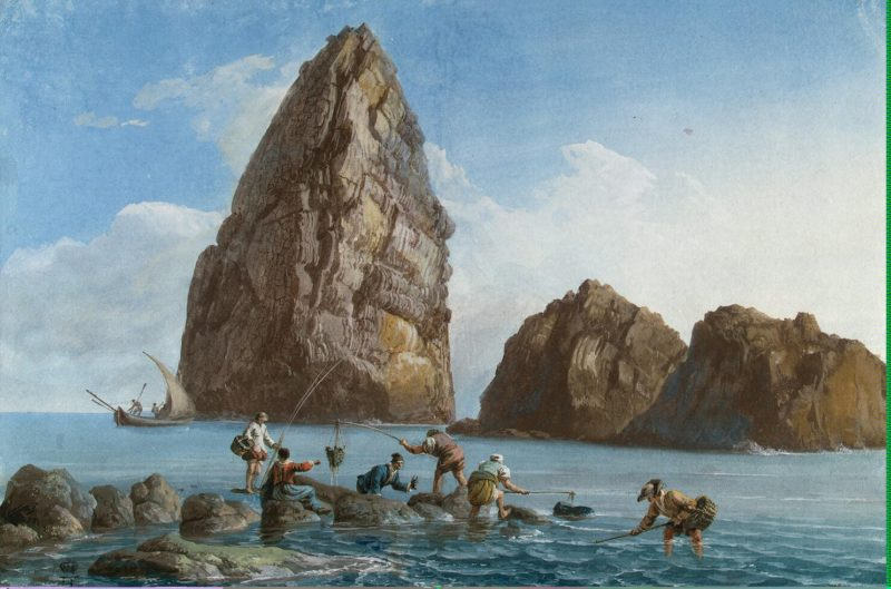 View of the Rocks on the Third Island of Cyclops   Houel Jean-Pierre-Laurent   oil painting