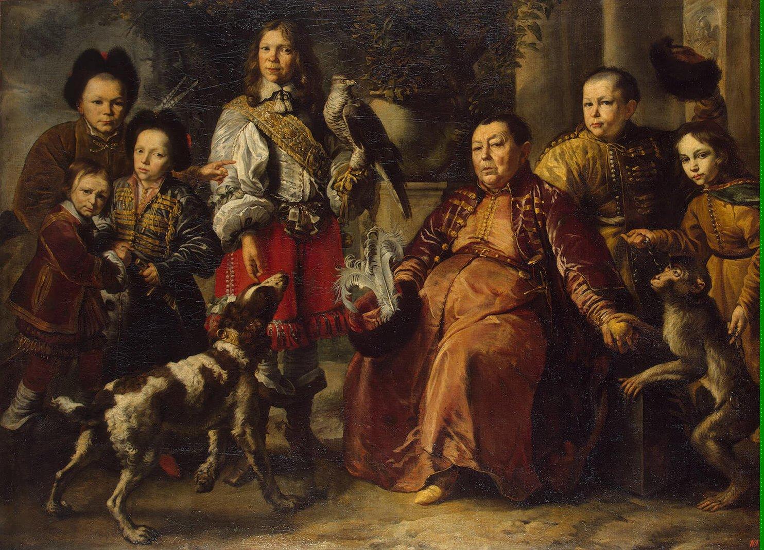 Family portrait schultz daniel oil painting