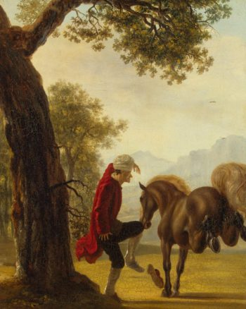Voltaire Taming a Horse | Huber Jean | oil painting