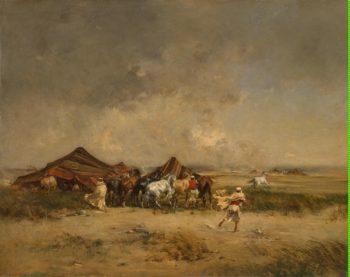 Arab Encampment | Huguet Victor Pierre | oil painting
