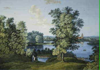 View of the Large Pond in the Park in Tsarskoye Selo | Shchedrin Semyon Fiodorovich | oil painting